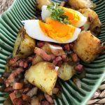 Ensalada templada y rápida de patatas al vapor (de microondas!)