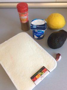 Ingredientes crema de aguacate con coco