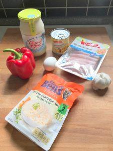 Ingredientes ensalada polaca de arroz (receta de Zaneta)