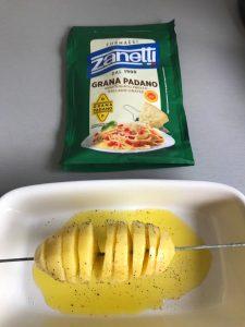Rociamos con parmesano rallado