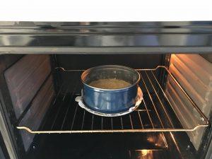 Metemos el molde al horno a 170º unos 7 u 8 minutos con cuidado de que no se queme