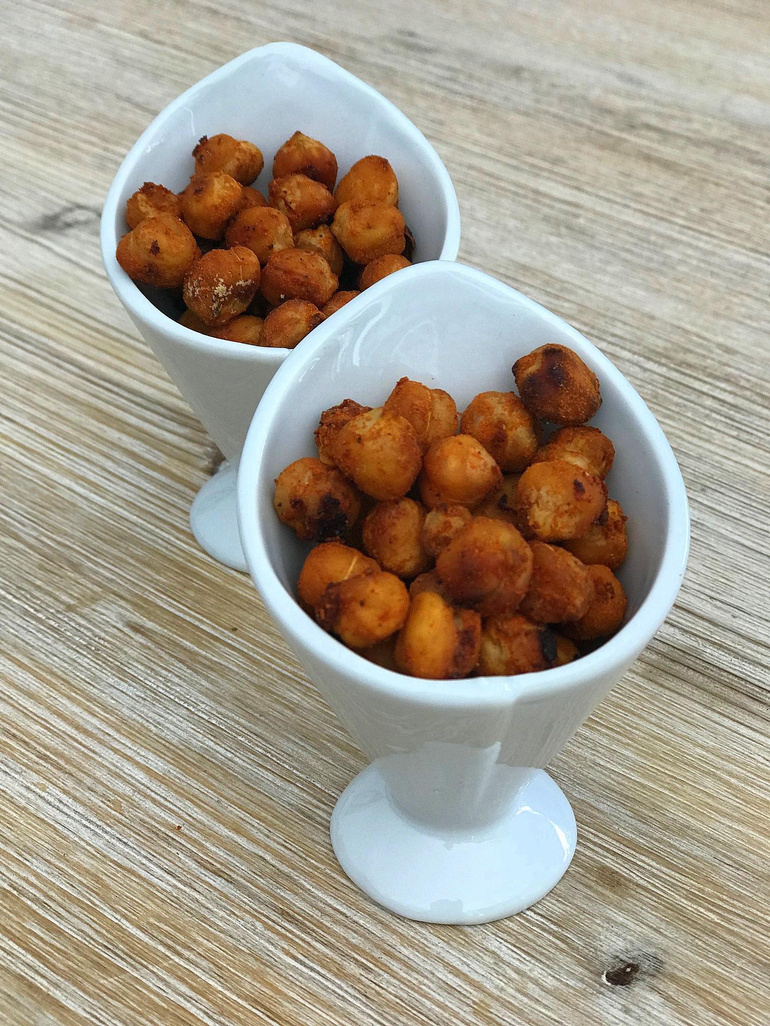 Spicy chickpeas (aperitivo de garbanzos especiados)